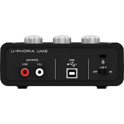 Behringer UM2 U-Phoria Audiophile 2x2 USB Audio Interface | Free UK Delivery 2