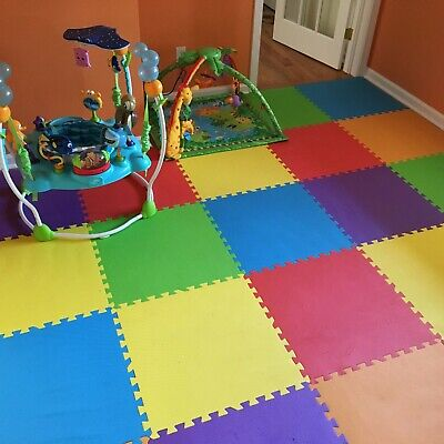 IncStores 24 SQFT Rainbow Play Interlocking Foam Floor Puzzle Mat - 6 Tiles 3