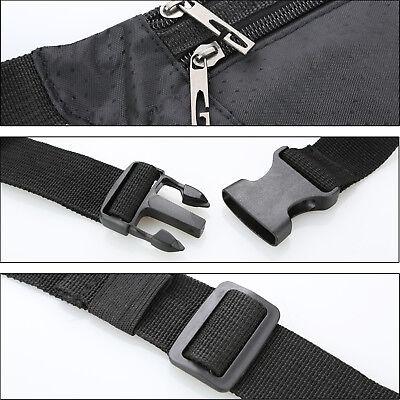 Waterproof Running Hiking Sport Bum Bag Travel Money Phone Waist Belt Zip Pouch 5