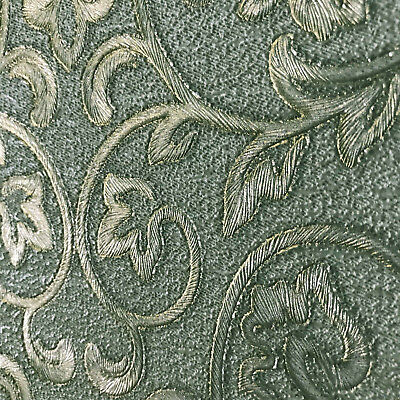 ... embossed wallpaper textured victorian modern damask green metallic gold rolls 3D 7