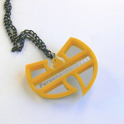 Wu Tang Clan Halskette Laser geschnitten gravierten Spiegel Kunststoff 6