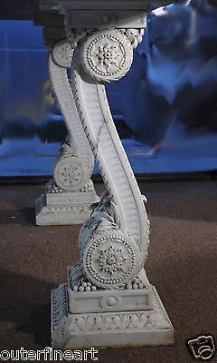 "19th Century ""Renaissance Style"" Carved Italian Carrara Marble Console"