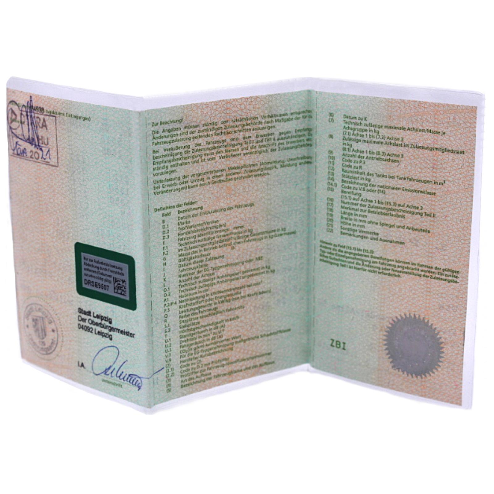 KFZ Schein Hülle 3-geteilt Zulassung Fahrzeugscheinhülle KFZ Schein Schutzhülle