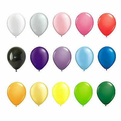 5-100 LARGE PLAIN BALONS BALLONS helium BALLOONS Quality Birthday Wedding BALOON 7