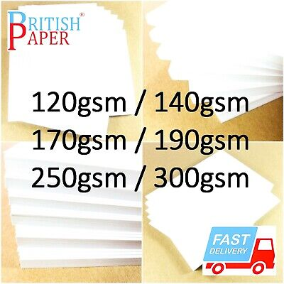 A2 A3 A4 A5 A6 White Card Thick Paper Cardboard Printer Copier Sheets Gsm Crafts 3