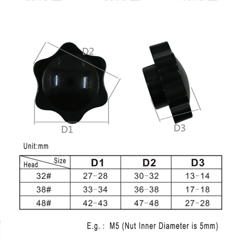 Forme A plastique noir épais rondelles en caoutchouc néoprène-M3M4M5M6M8M10M12M—