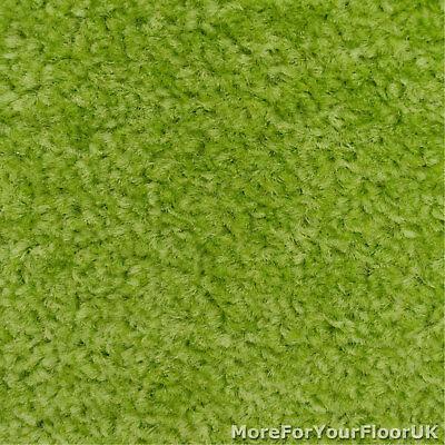 Lime Green Feltback Twist Bedroom Carpet, Cheap Roll 3