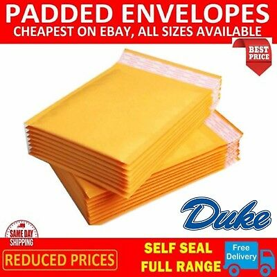 Gold Padded Bubble Envelopes Bags Postal Wrap - All Sizes - Various Quantites 7
