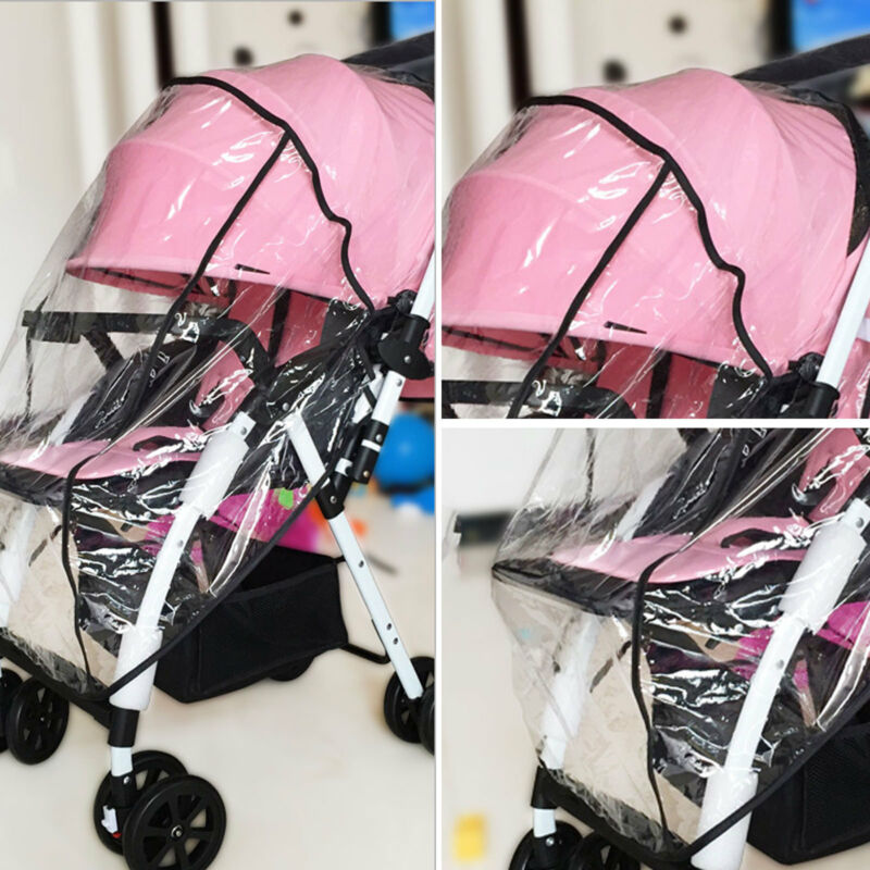 Universal Baby Pushchair Stroller Raincover Clear Rain Cover Pram Buggy w Window 3