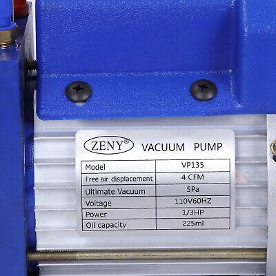 Rotary Vane Deep Vacuum Pump 1Stage 4 CFM 1/3HP HVAC AC Air Refrigerant Tool 3