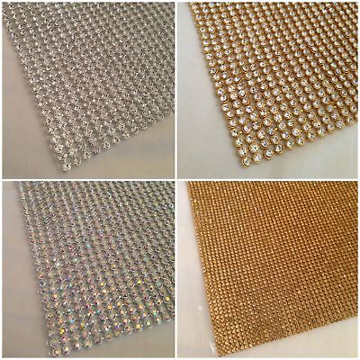 Termoadhesivo Chaton Tira en Pedrería Silver Rainbow Cristal & Dorado Ab 2