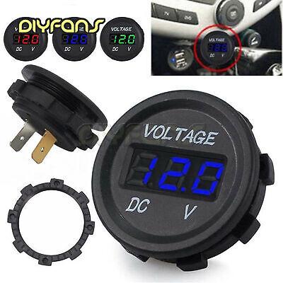 ATV Motorrad-Batterieanzeige Blaues Licht Wasserdicht DC5-48V Voltmeter Auto