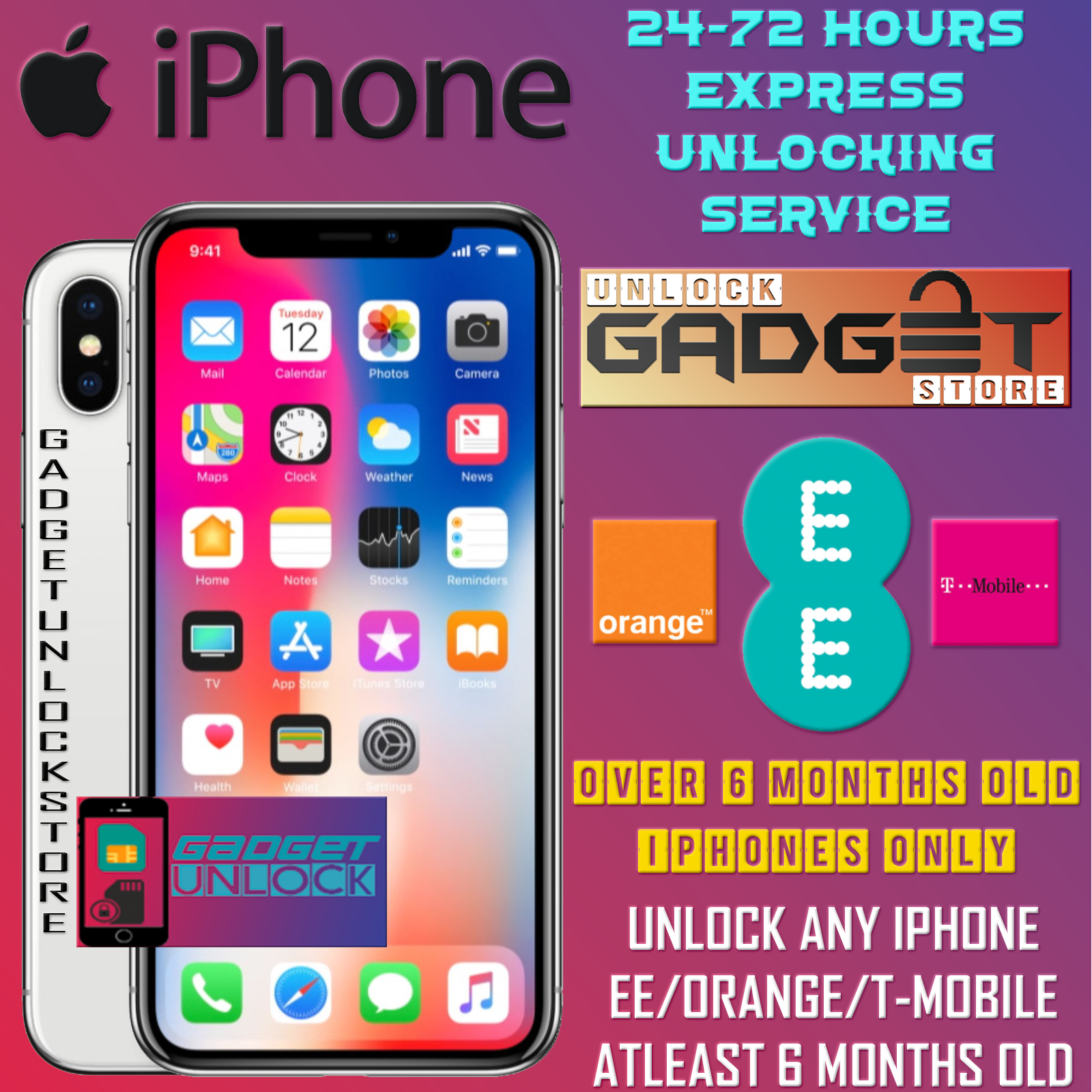UNLOCK CODE FOR iPhone 11 11 Pro XS XR X 7 8 6 PLUS SE EE UK FAST UNLOCK SERVICE 2