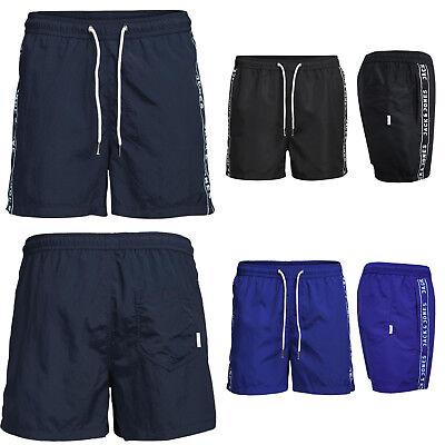 06e8e0fd3014fc ... JACK & JONES Swim Shorts Kurze Trend Schwim Badehose aus Nylon mit Logo  Aufdruck 2