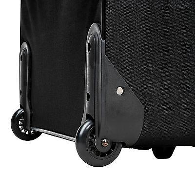 Conjunto de 4 maletas de viaje juego de maleta bolsa trolley con ruedas negro 5