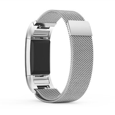 For Fitbit Charge2 Replacement Strap Milanese Band Metal Stainless Steel Magnet 2
