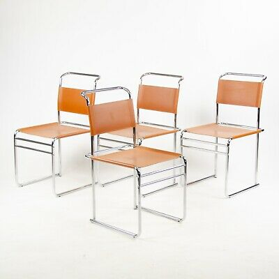 Outstanding Set Of 4 Marcel Breuer B5 Dining Chairs Chrome Leather Pdpeps Interior Chair Design Pdpepsorg