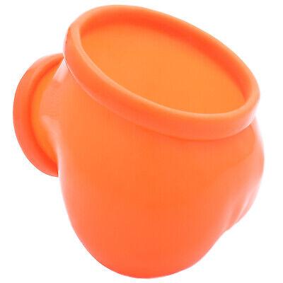 Frei Haus Toylie Latex Penishülle Ben neon-orange ohne Schaft Latexkleidung Club 4
