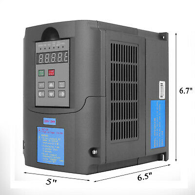 1.5KW 2HP Single To 3 Phase Variable Frequency Drive Inverter CNC VFD VSD 220V 2