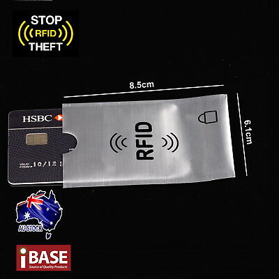 RFID Blocking Sleeve Secure Credit Card ID Protector Anti Scan Safet 2xL + 5xS 4
