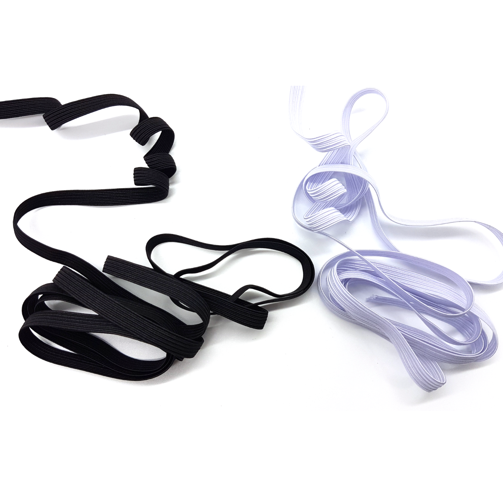 Flat Elastic Cord Sewing Black White 6mm 12mm 2