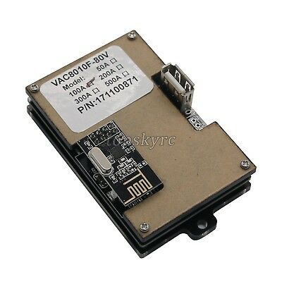 Battery Monitor Meter Wireless DC 120V 100A VOLT AMP AH Remaining Capacity LCD&& 5