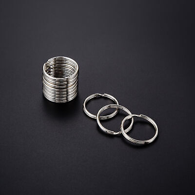 Wholesale 4~35mm Key Rings Chains Split Ring Hoop Metal Loop Accessory Keyring 12