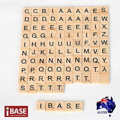 Wooden Alphabet Scrabble Tile Number Scrapbooking Handcraft Letter set Complete 3