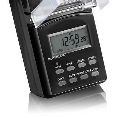 2x Zeitschaltuhr digital programmierbar Außen IP44, Wochentimer 24h Timer SEBSON 4