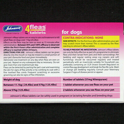 Johnsons 4Fleas 6 Tablet Pack Starts To Kill Dog & Cat Fleas In 15 Minutes-Rspca 10