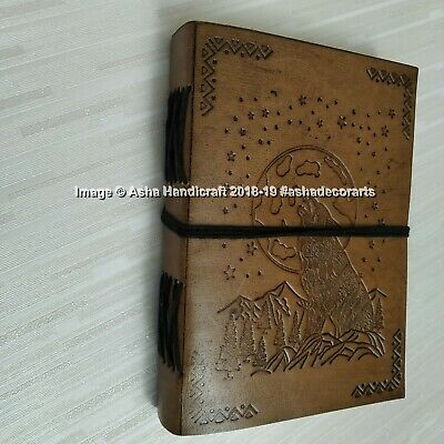 The Moon Halloween Special Handmade Leather Diary Journal Indian Cotton Paper 6