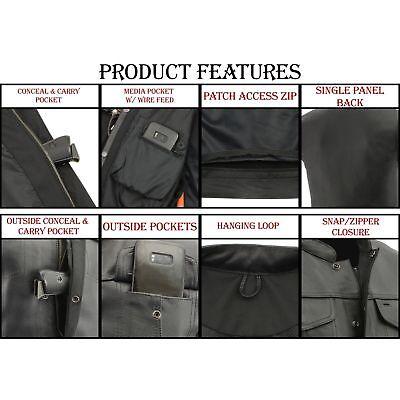 Milwaukee Mens Collarless Snap/Zip Front Club Vest Black, XX-Large ...