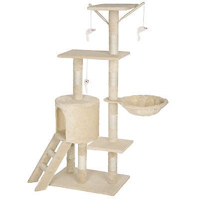 Arbre à chat griffoir grattoir jouet animaux douillet et peluché beige 7