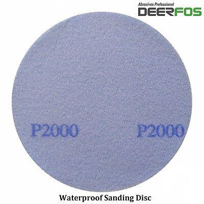 """75mm 3"""" Wet or Dry Hook & Loop Sanding Discs P40-P3000 Sandpaper DA Pads / VAT 3"""