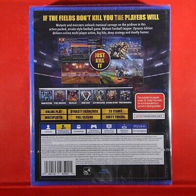 MUTANT FOOTBALL LEAGUE - Dynasty Edition - PlayStation 4 PS4 ~18+ Brand New 2