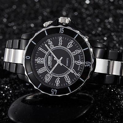 OHSEN Men's 7 LED Backlight Stainless Steel Sport Quartz Wrist Watch Waterproof 6