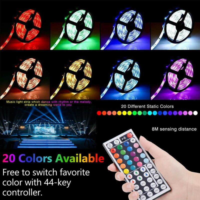 5m-30m LED Stripe RGB Wasserdicht Leiste Streifen 5050 Band Leuchte Lichterkette 2