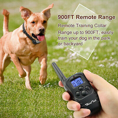 Dog Shock Training Collar Rechargeable LCD Remote Control Waterproof 330 Yards 6