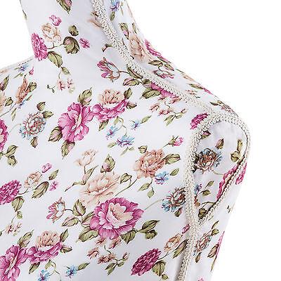 Maniquí de sastres costureras maniquíes sastrería torso femenina blanco con rosa 4