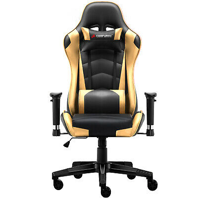 JL Comfurni Gaming Racing Home Office Chair Executive Swivel Recliner Leather 12