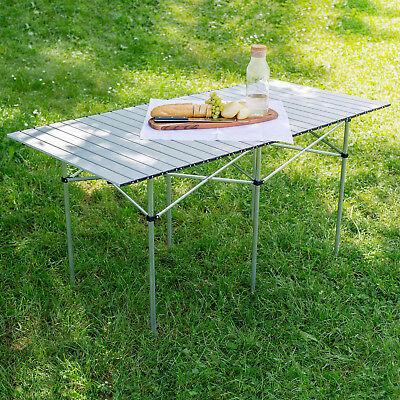 Table de camping de jardin pliable pliante en aluminium portable XXL 140x70x70cm 2