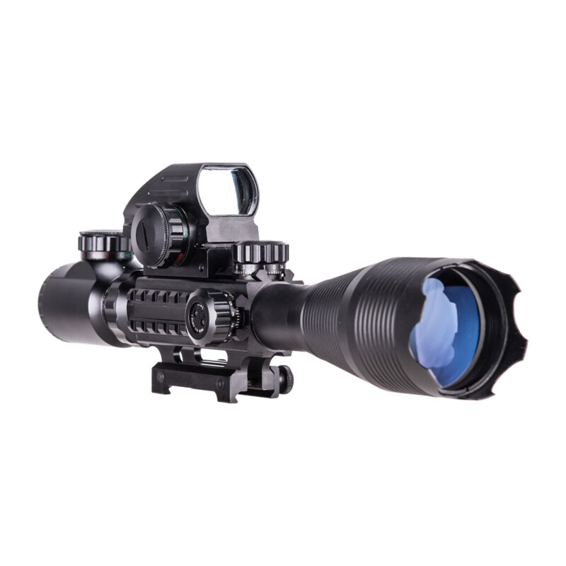 4-16x50 3in1 Combo Rangefinder Rifle Scope W/Green Laser &Reflex Dot Sight Scope 6