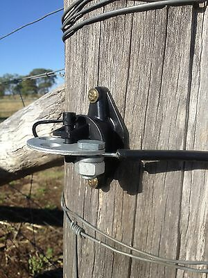 5 Gate Handles & 5 Anchor Plate Pinlock Insulator & Split Bolt Electric Fence 4