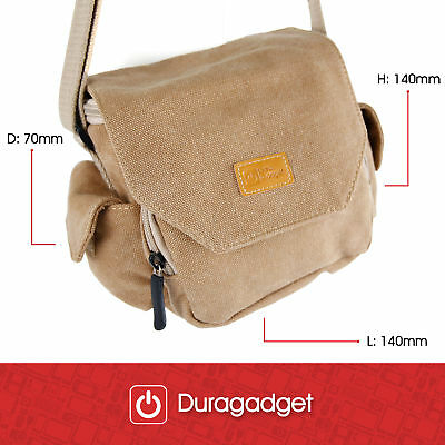DURAGADGET Light Brown Medium Sized Canvas Carry Bag for Parrot Mambo FPV Drone