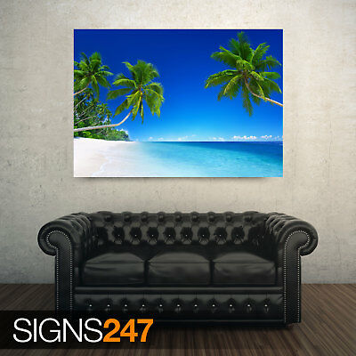 ZZ032 TROPICAL BEACH PARADISE BEACH POSTER Poster Print Art A0 A1 A2 A3