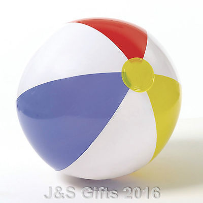 """Inflatable Panel Blow Up Beach Ball 16"""" 20"""" 24"""" Holiday Party Swimming Garden 2"""