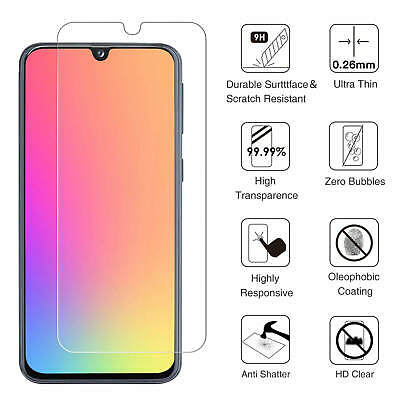 For Samsung Galaxy A40 A50 Full Coverage Tempered Glass Screen Protector Clear 10