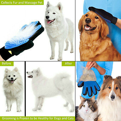 Pet Dog Cat Massage Hair Removal Grooming Comb Touch Cleaning Brush Magic Glove 5