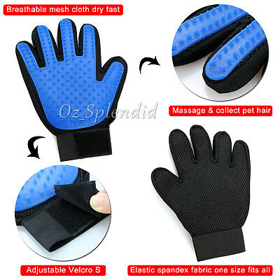Pet Dog Cat Massage Hair Removal Grooming Comb Touch Cleaning Brush Magic Glove 6