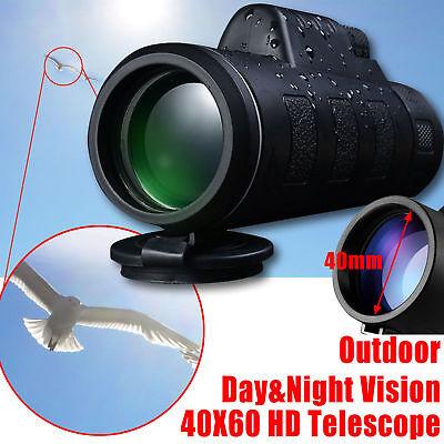 Monocular Telescope 40x60 High Power BAK4 Prism Waterproof with Tripod Camera